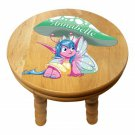 Pixie Personalised Child Solid Wooden Colourful Pixie Stool  - Gift