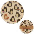 9 Piece Eco Friendly Feline Cat Plates & Cup Set Bamboo Fibre Durable Dinner Eco Friendly