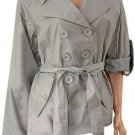Ladies Trench Short Trench Coat Woman's Mac Adjustable Sleeves
