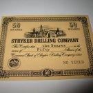 1964 Stocks & Bonds 3M Bookshelf Board Game Piece: single Stryker Drilling 50 Shares stock card