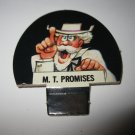 1986 Hollywood Squares Board Game Piece: M. T. Promises Player tab