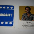 1976 Whosit? Board Game Piece: Hero blue Character Card