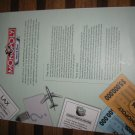 2006 Monopoly - Here & Now Board Game Piece: insert paper , welcome to the game