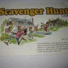1983 Scavenger Hunt Board Game Piece: Instruction Booklet