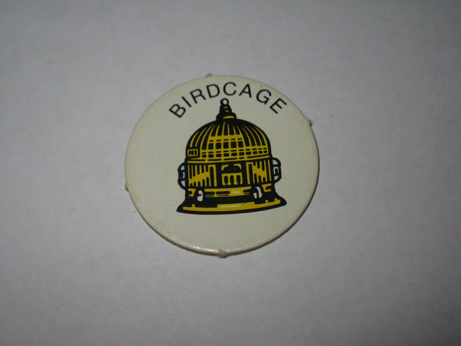 1983 Scavenger Hunt Board Game Piece: Birdcage Circle Tab