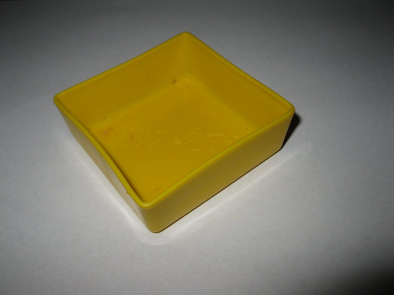 1980 Pac-Man Board Game Piece: Yellow Player Marble Bin
