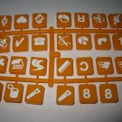 1986 Scrabble Rebus Board Game Piece: full unused Orange Tile Set