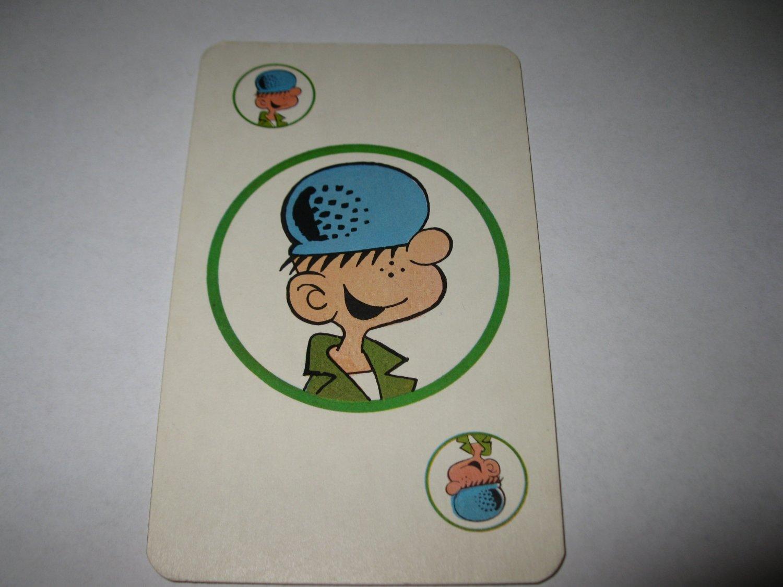 1972 Comic Card Board Game Piece: single Beetle Bailey Player Card