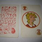 1972 Comic Card Board Game Piece: single Blondie Player Card
