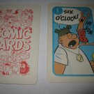 1972 Comic Card Board Game Piece: Beetle Bailey Cartoon Card #1