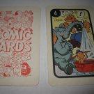 1972 Comic Card Board Game Piece: Popeye Cartoon Card #6
