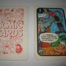1972 Comic Card Board Game Piece: Popeye Cartoon Card #2