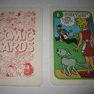 1972 Comic Card Board Game Piece: Blondie Cartoon Card #6