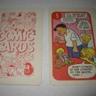 1972 Comic Card Board Game Piece: Hi and Lois Cartoon Card #5