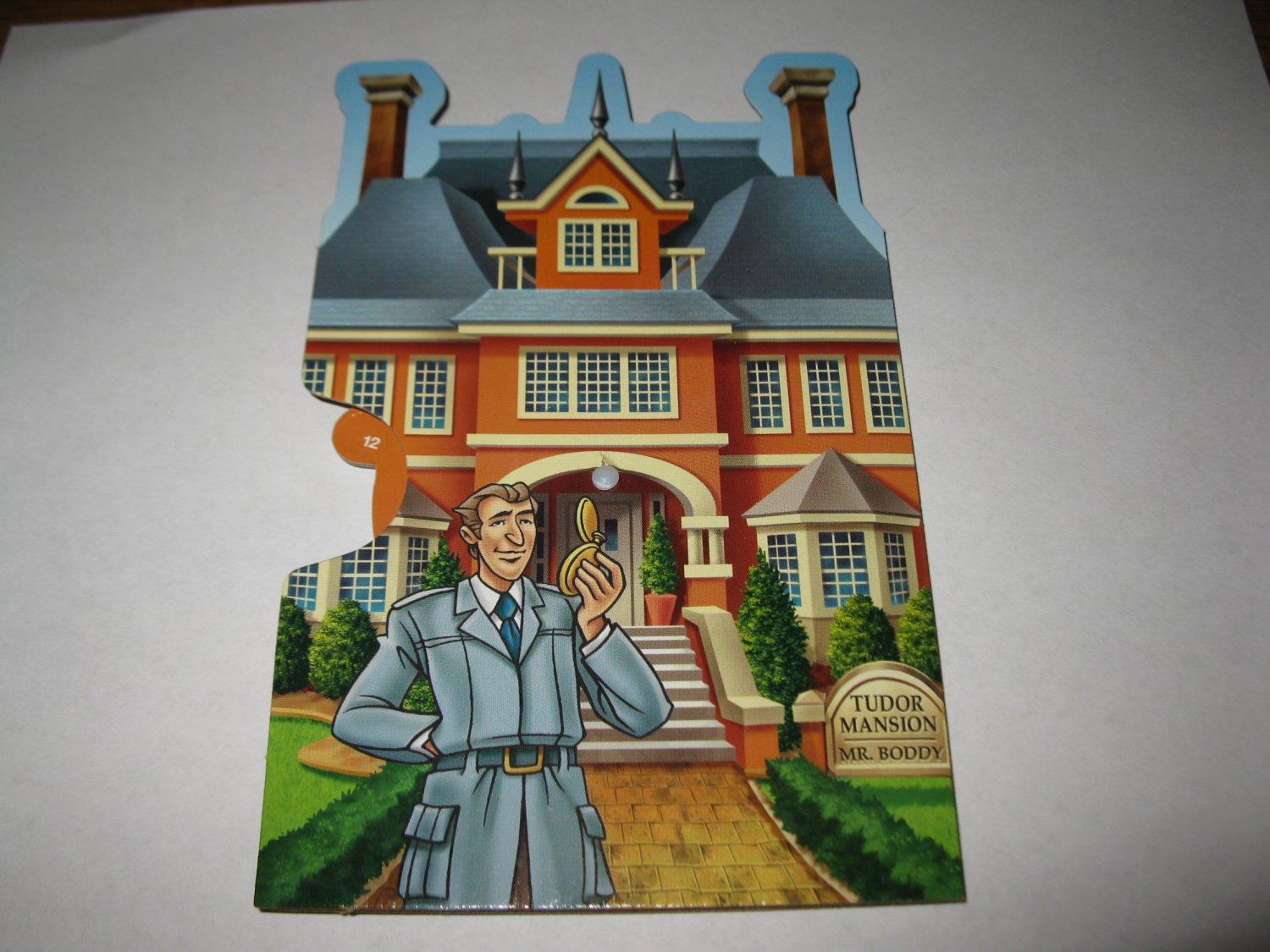 2005 Clue Mysteries Board Game Piece: Tudor Mansion orange House