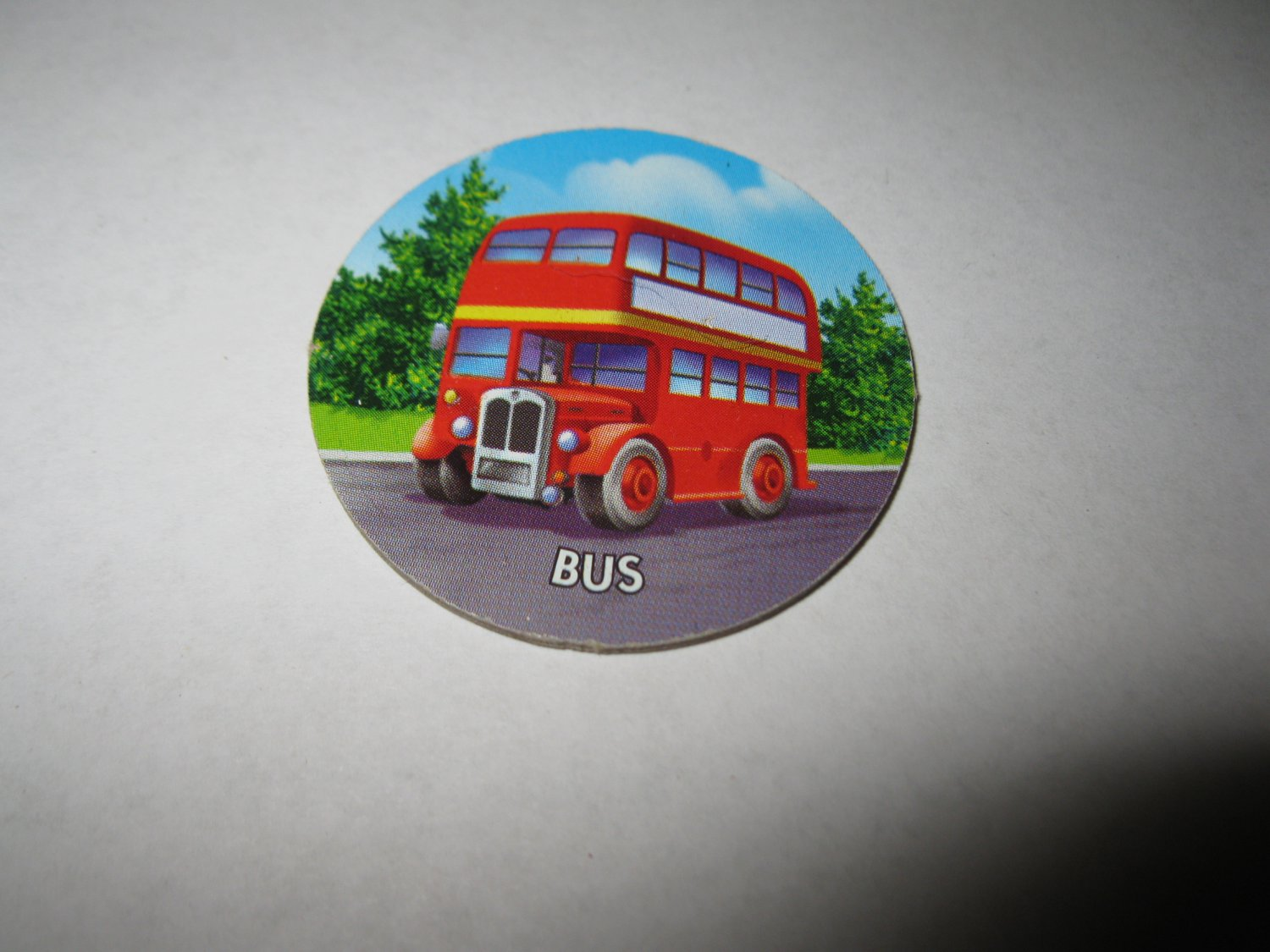 2005 Clue Mysteries Board Game Piece: Bus circle tab