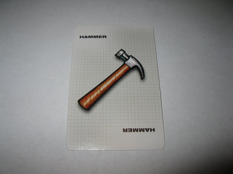 2003 Clue FX Board Game Piece: Hammer Weapon Card