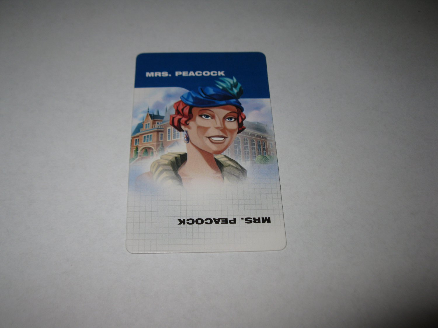 2003 Clue FX Board Game Piece: Mrs. Peacock Suspect Card