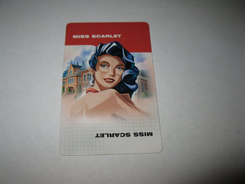 2003 Clue FX Board Game Piece: Miss Scarlet Suspect Card