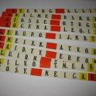 1978 Punchline Board Game Piece: complete Red Slider Tab set