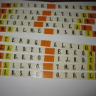 1978 Punchline Board Game Piece: complete Orange Slider Tab set