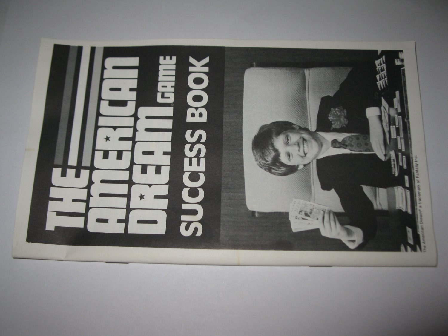 1979 The American Dream Board Game Piece: Instruction Booklet
