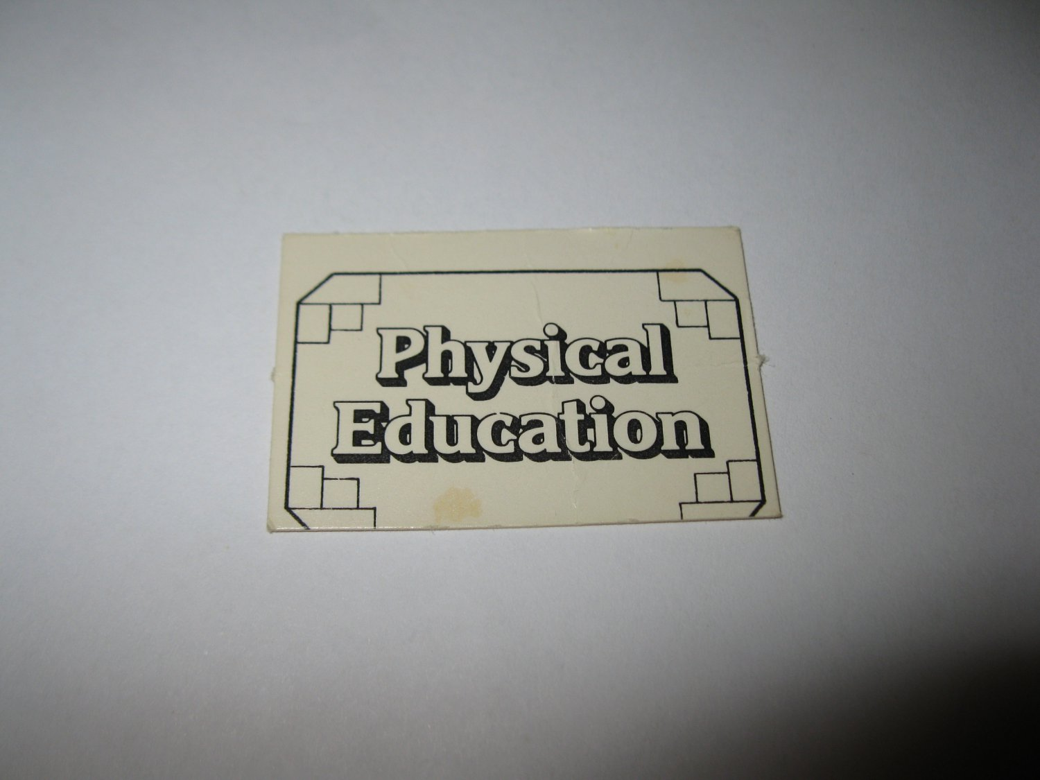 1979 Careers Board Game Piece: Physical Education tab