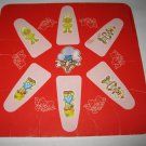 1981 Strawberry Shortcake 'Berry Go Round' Board Game Piece: Game Player Square #4