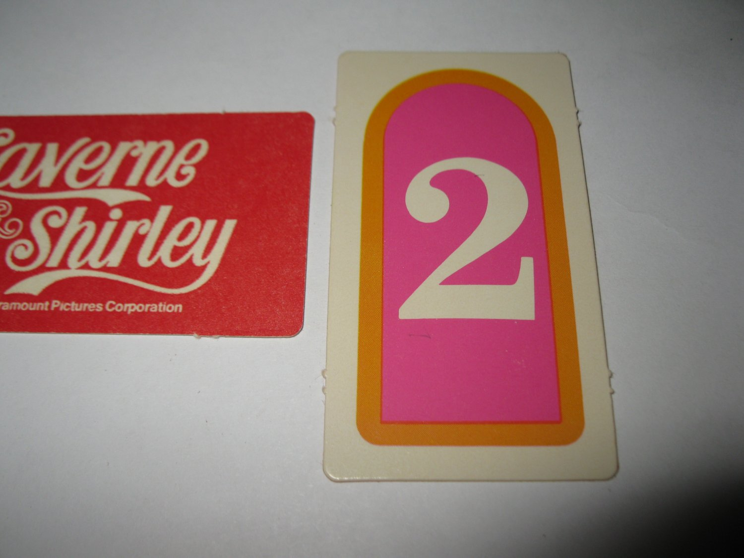 1977 Laverne & Shirley Board Game Piece: single Game Card #2