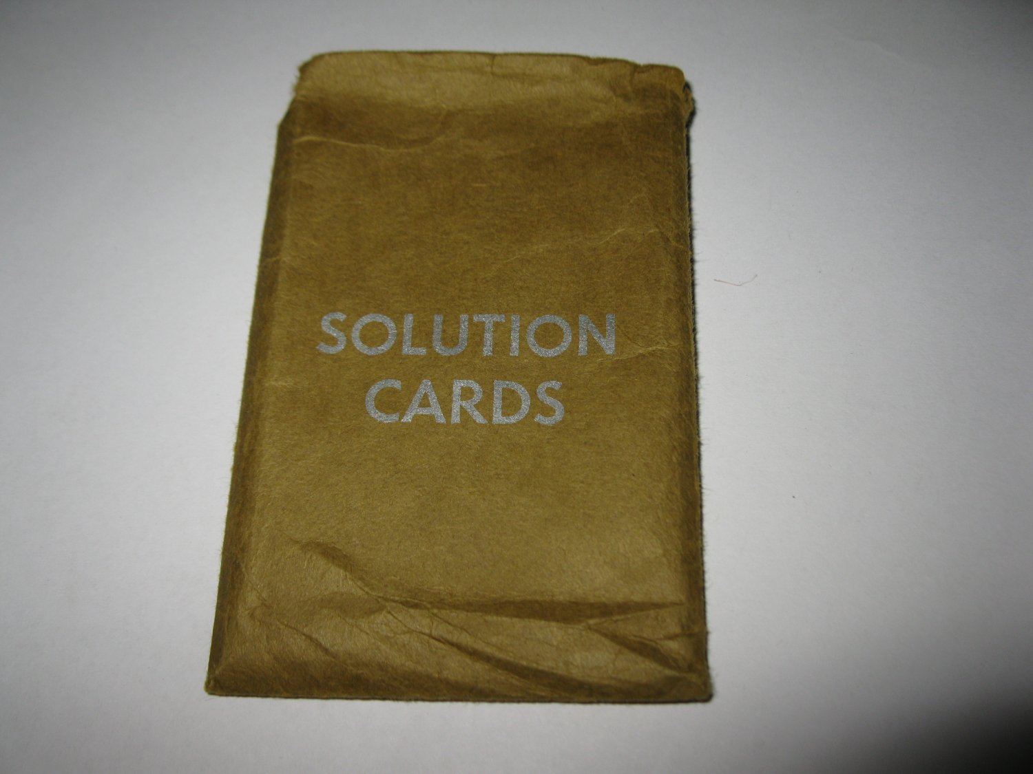 1963 Clue Board Game Piece: Solution envelope