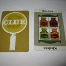 1963 Clue Board Game Piece: Kitchen Location Card