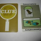 1963 Clue Board Game Piece: Conservatory Location Card