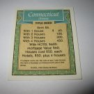 1995 Monopoly 60th Ann. Board Game Piece: Connecticut Avenue Property Deed