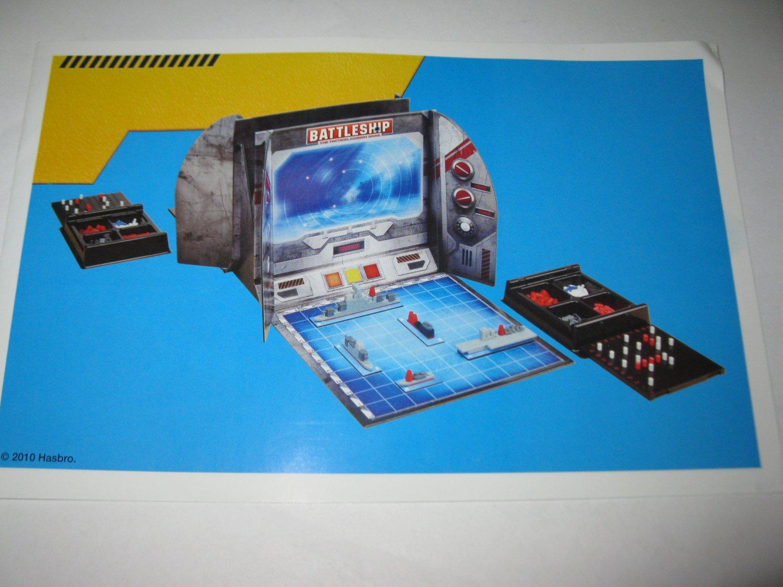 2010 uBuild Battleship Board Game Piece: Set-up Booklet