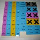 1992 Uncanny X-Men Alert! Board Game Piece: unused complete Sticker Sheet