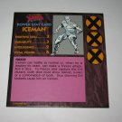 1992 Uncanny X-Men Alert! Board Game Piece: Iceman Player Stat Card