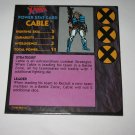 1992 Uncanny X-Men Alert! Board Game Piece: Cable Player Stat Card
