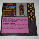 1992 Uncanny X-Men Alert! Board Game Piece: Gambit Player Stat Card
