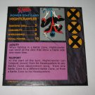 1992 Uncanny X-Men Alert! Board Game Piece: Nightcrawler Player Stat Card