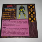 1992 Uncanny X-Men Alert! Board Game Piece: Cyclops Player Stat Card