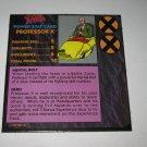 1992 Uncanny X-Men Alert! Board Game Piece: Professor X Player Stat Card