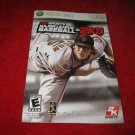 2K Sports Major League Baseball 2K9 : Xbox 360 Video Game Instruction Booklet