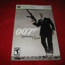 Quantum of Solace 007 : Xbox 360 Video Game Instruction Booklet