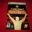 Don King's Prizefighter : Xbox 360 Video Game Instruction Booklet