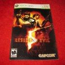 Resident Evil 5 : Xbox 360 Video Game Instruction Booklet