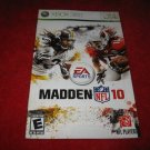 Madden NFL 10 : Xbox 360 Video Game Instruction Booklet