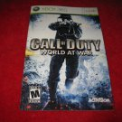 Call of Duty, World at War : Xbox 360 Video Game Instruction Booklet