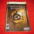 Condemned 2, Bloodshot : Xbox 360 Video Game Instruction Booklet