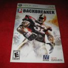 Backbreaker : Xbox 360 Video Game Instruction Booklet
