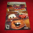 Cars Mater-National Championship : Xbox 360 Video Game Instruction Booklet
